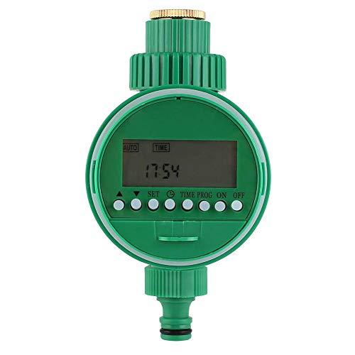 Temporizador de riego automático electrónico Wuudi, temporizador de riego inteligente con pantalla LCD, controlador de riego digital, riego automático para jardín, plantación, jardinería y control