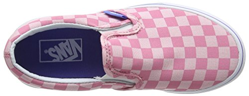 Vans Unisex-Kinder Classic Slip-On Low-Top Pink (tonal Checker/wild Rose/wedgewood)
