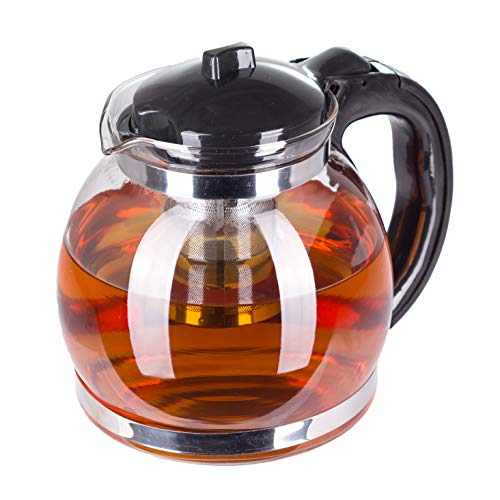 Kaliwaro Teekanne aus Glas mit herausnehmbarem Siebeinsatz Edelstahl Filtereinsatz Sieb