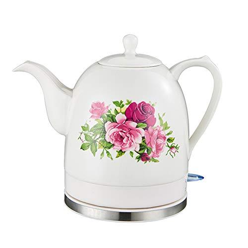 1.2 Liter,Elektro-Wasserkocher, Trockenlaufschutz, BPA Frei, Retro Wasserkocher: Keramik-Wasserkocher,Elektrischer Wasserkocher Drahtlose,A