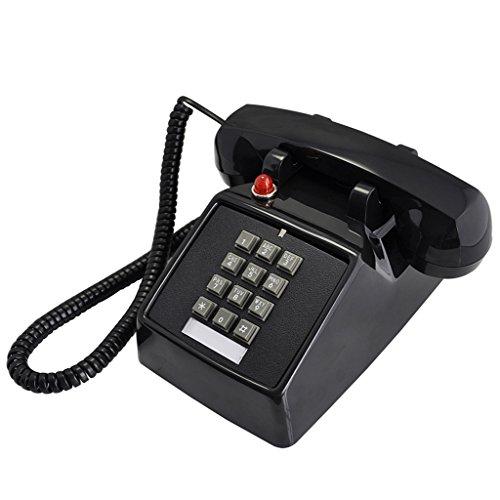 ZHANGLIXIANG XYLS Retro-europäischen Festnetz-Amerikanischen Stil Mechanische klingeln Kreative Mode Telefon Antike Retro-Festnetz-Antike Telefon-Maschine Festnetztelefone (Farbe : Black) -