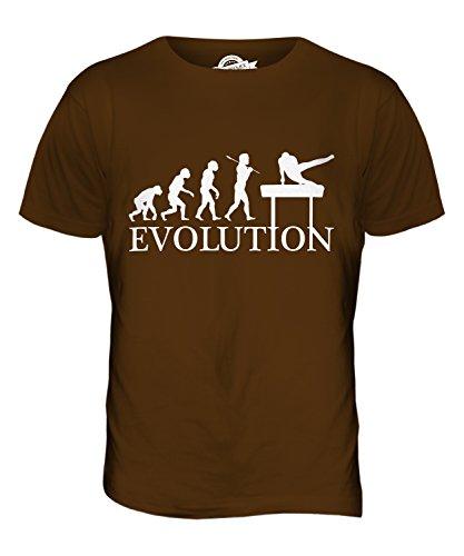 CandyMix Gymnastik Pauschenpferd Evolution Des Menschen Herren T Shirt Braun