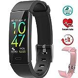 Braccialetto Fitness Tracker Impermeabile IP68 Smartwatch Cardiofrequenzimetro Activity Tracker Pedometro Contapassi per iOS Android per iPhone Samsung Huawei(Con una sostituzione cinturino rosa)