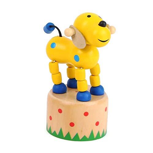Small Foot 11157 Drückfigur Hund aus Holz, FSC 100%-Zertifiziert, Mitgebsel Spielzeug, Mehrfarbig -