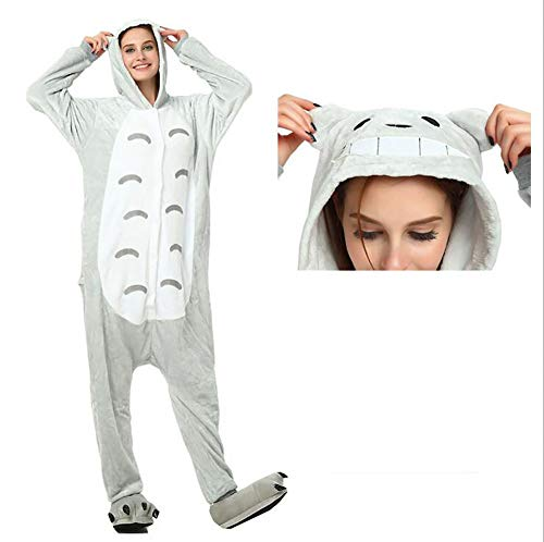 SHANGXIAN Erwachsene Unisex Tier Cosplay Pyjama Totoro Kigurumi Kostüme Halloween Party (Totoro Kigurumi Kostüm)