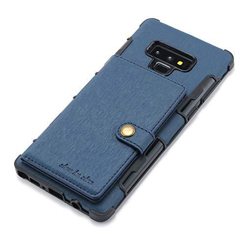 Samsung Galaxy Note 9/ Note 8 Hülle,Croazhi Leder Standfunktion Brieftasche Karten Schutzhülle Flip Schlanke Fach Handyhülle Schale Schwarz Handytasche Book Case (Blau, Samsung Galaxy Note 9)