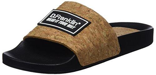 D. Franklin Unisex-Erwachsene Cork Slides Peeptoe Sandalen Braun (Corcho)