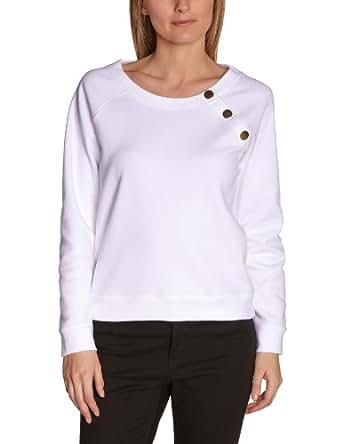 Petit Bateau Sweat-shirt Uni en Milano - Tibetain - Femme - Blanc (Ecume) - S