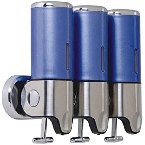OOFAY YSPJ ® Multifunción presión acero inoxidable tres líquido dispensador de jabón de jabón líquida y loción , blue