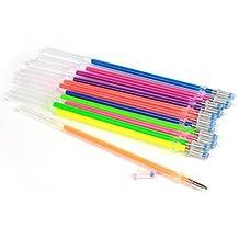 westeng 48pcs con purpurina bolígrafos de tinta de gel recargas para bolígrafos de gel, no tóxico