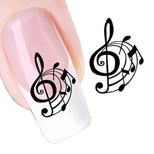 Vovotrade Notation musicale design Nail Tip Art Transferts Sticker Decal