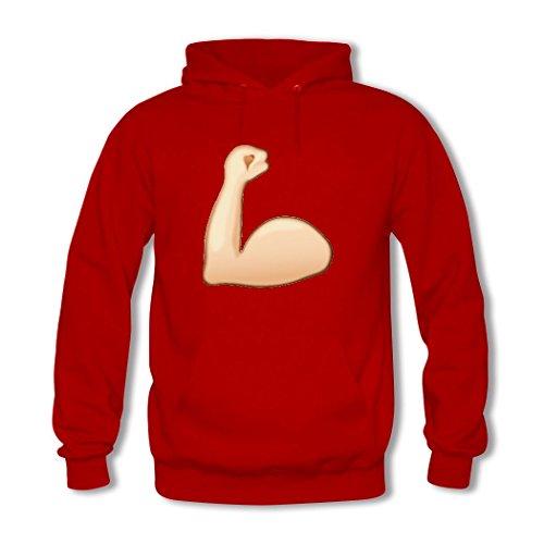 HGLee Printed Personalized Custom Emoji Stickers Women's Hoodie Hooded Sweatshirt Red