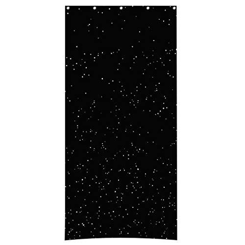 MDenker Verdunkelungsvorhänge, Stadtnachtlicht, Lochvorhang, Einzelstück Fenster Vorhang Kräuselband-Vorhang Amelie - 106x213cm Anthrazit-Grau - Dekorative Gardine Universalband -