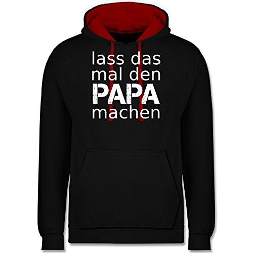 Vatertag - Lass das mal den Papa machen - Kontrast Hoodie Schwarz/Rot