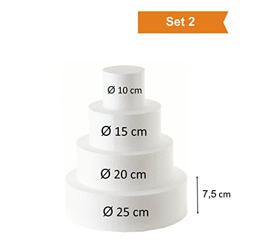 Styropor - Styropor-Torte Torten-Dummy (Set 2)