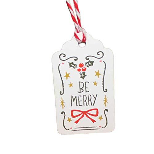 L_shop Frohe Weihnachten Tag DIY Kreative Bemalte Lesezeichen Handwerk Hang Tags Weihnachten Hang Etiketten Gästebuch Zeichen Karte Party Dekorationen, wie es Beschreibung ist, fröhlich Bogen -