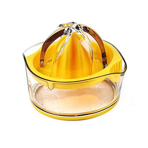 kajimma Manuelle Saftpresse Handhold orange Zitronensaft Maker mit Skala Transparent Flasche Zitruspresse Presse von Mini-Küche Gadget