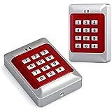 RFID ouverture de porte digital à code contrôle d'accès Contrôle d'accès Access Control System rouge argent