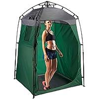 Relaxdays Umkleidezelt Tienda de campaña XXL para Camping y jardín (275 x 156,5 x 154 cm), Color Verde Oscuro y Gris