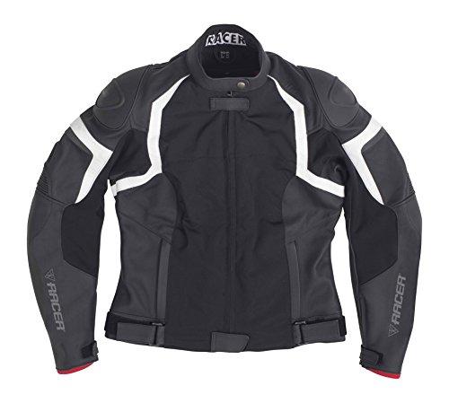 Racer Jerez Ladies Leder-Textil-Jacke, Schwarz, 38 Racer Jacke