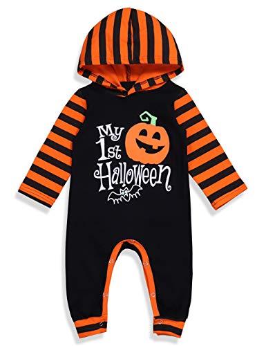 Ideen Kein Kostüm Halloween - Ttkgyoe Halloween Baby Boy Girl Outfit Mein erster Halloween Kürbis Hoodie Strampler Body Einteiliger Overall