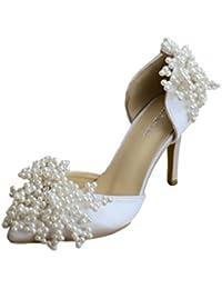 Minitoo MinitooUK-MZ8246 - Zapatos de Vestir de Satén Para Mujer