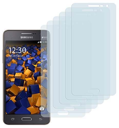 mumbi Schutzfolie kompatibel mit Samsung Galaxy Grand Prime Folie klar, Bildschirmschutzfolie (6x)