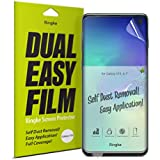"Ringke Dual Easy Film [2 Pack] Compatible with [Galaxy S10] High Resolution [Anti-Smudge Coating] Easy Application Case Friendly Screen Protector for Galaxy S 10 (6.1"")"
