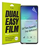 Ringke Dual Easy Film [2 Pack] Compatible with [Galaxy S10] High Resolution [Anti-Smudge