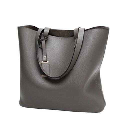 LAIDAYE Frau Handtasche Schulter Art Und Weise Grey