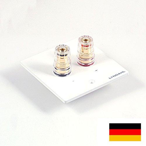 Lyndahl Highend Lautsprecherblende LKL001 für einen Lautsprecher, passend für einfach-Unterputzdose/Wandeinbaudose weiß