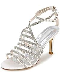 L YC Femmes Sandales/Chaussures de Mariage/Printemps/Été/Automne Sandales & SoiréE Glittering Mariage/Partie/Jupe, White, 39