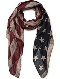 styleBREAKER Vintage Design USA Flaggen Muster Schal, Stars and Stripes, Unisex 01016084