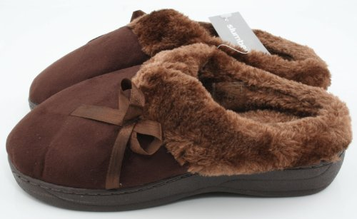 Slumberz, Pantofole donna Marrone (Dark Brown)