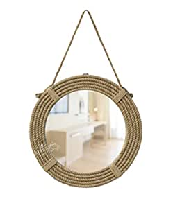 ARTISANS CRAFT – Round Wall Mirror for Bedroom, Living Room, Bathroom and Wash Basin - Home Decoration – Wall Hanging Mirror