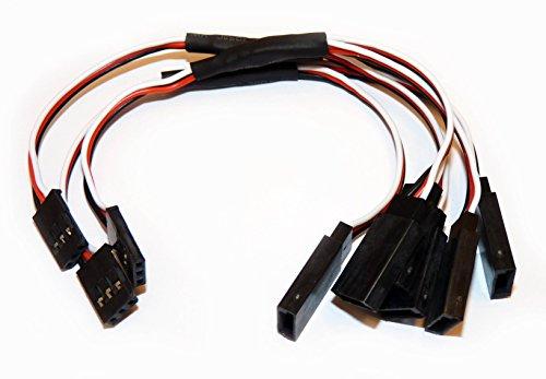 Preisvergleich Produktbild 3 Stück Y Servokabel 15cm Servo Verlängerungskabel 150mm