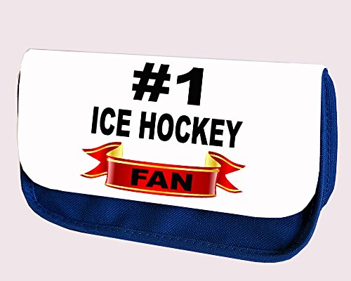 # Nummer 1Eishockey Fan blauen Stift, Fall