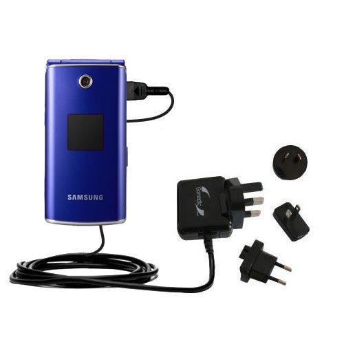 Das 10W Wandsteckdosen-Ladegerät International AC kompatibel mit Samsung SGH-E210 Mit TipExchange von Gomadic