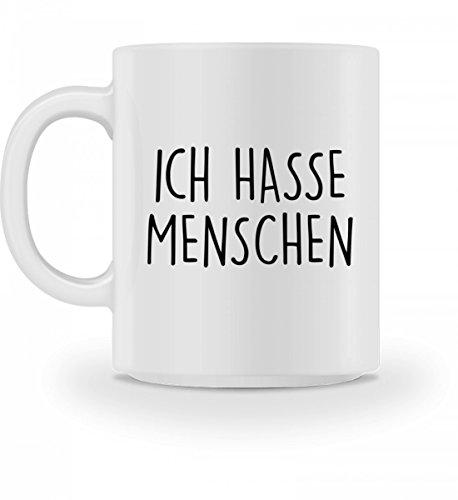 SwayShirt Hochwertige Tasse - Ich Hasse Menschen Kaffeetasse -