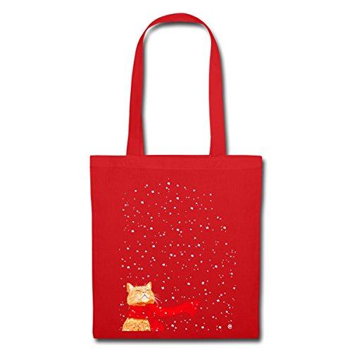 Sacchetto Rosso Di Stoffa Da Neve Gatto Spreadshirt