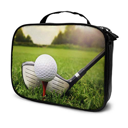 Golf Club Ball Gras Reise Herren Reise Kosmetiktasche Beauty Bag Kleine Mädchen Kosmetiktasche Multifunktions Gedruckt Tasche Für Frauen -