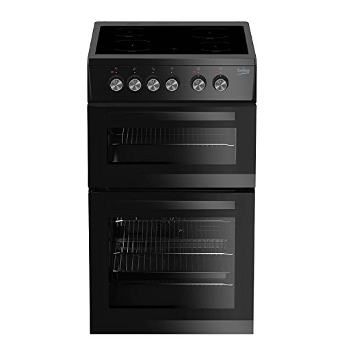 41trz%2BQhVeL. SS500  - Beko KDVC563AK 50cm Double Oven with Ceramic Hob in Black
