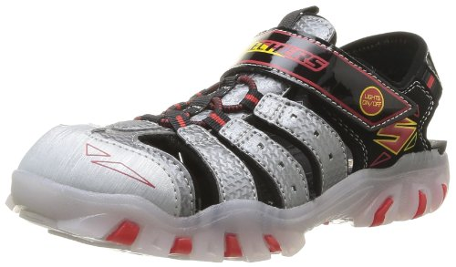 Skechers - Street Lightz Sandal, Sandali sportivi Unisex - Adulto Nero (Schwarz (BKSR))