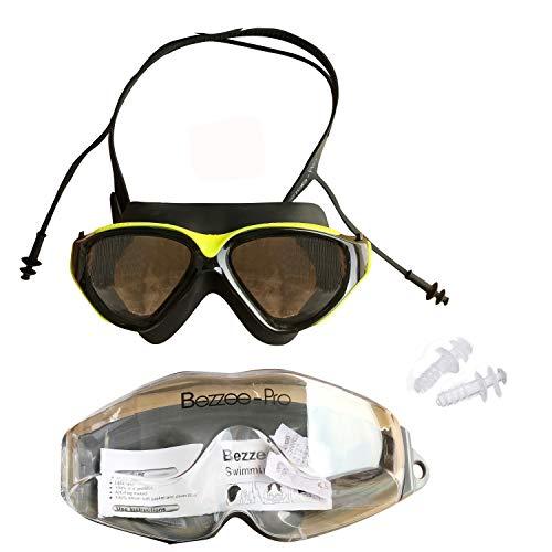 Schwimmbrille mit integrierten Ohrstöpseln - Unisex Schutzbrille 100% dicht, mit UV Schutz und...