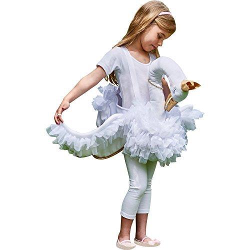 White Kind Swan Kostüm - Generique - Schwanen Kostüm für Mädchen weiß Einheitsgröße