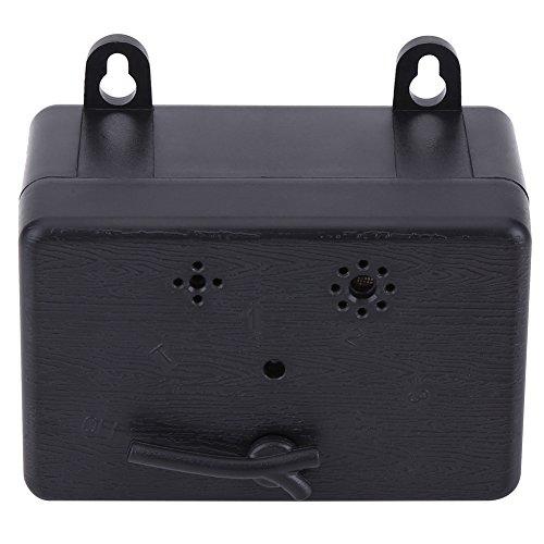 Zouminy Perros de Control de Parada por ultrasonido Que ladran en contra Sin silenciador del Dispositivo de ladridos Mascotas al Aire Libre(Negro)