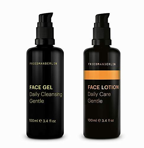 Pflegeset für Männer von FRIEDMANBERLIN | Set mit Gesichtsreinigung & Gesichtspflege für jeden Hauttyp | Naturkosmetik 2er Set (100ml & 100ml)