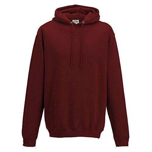 Just Hoods College Hoodie M,Brick Red (Hoodie Red)