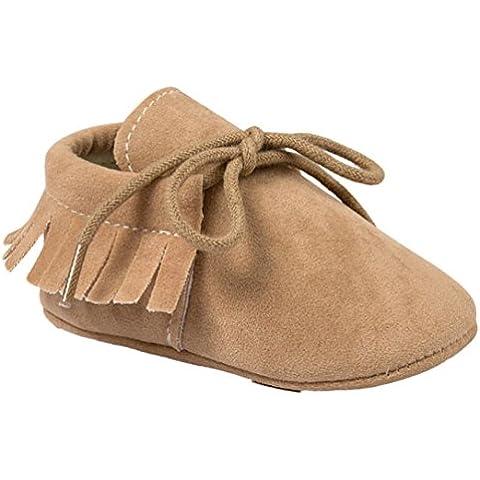 Malloom Bebé cuna borlas vendaje suave único niño Zapatillas Casual zapatos