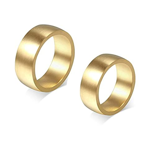 Aooaz Edesltahl Partnerringe Gold Klassiker Ringe Breite 8MM Herren Ring Hochzeit Ringe Punk Größe 70 (22.3)